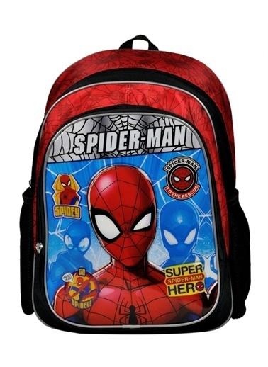 Hakan Çanta Spider-Man Hero İki Bölmeli Siyah/Kırmızı İlkokul Çantası (Hakan Çanta) Renkli